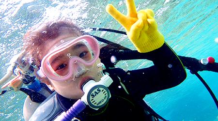 楽しくダイビング!沖縄でキッズダイビング