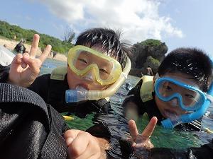 子供と沖縄シュノーケリング
