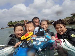 沖縄2歳の幼児と楽しめるシュノーケリング