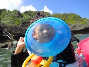 青の洞窟6歳シュノーケリング
