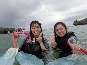 沖縄シュノーケリング終わり