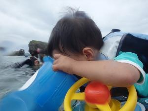 沖縄2歳お魚探しシュノーケリング