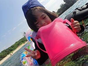 沖縄3歳シュノーケリング