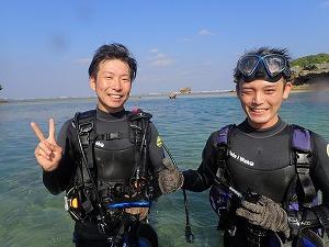 真栄田岬ダイビング
