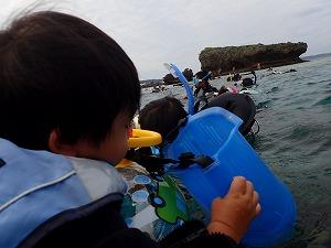 沖縄シュノーケリング1歳