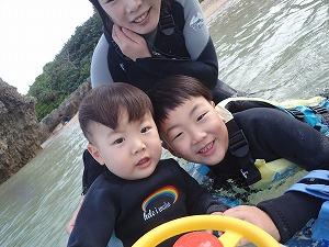 2歳、7歳の子供とシュノーケリング