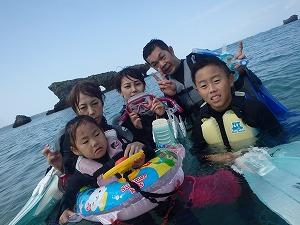 沖縄シュノーケリング4歳子連れ