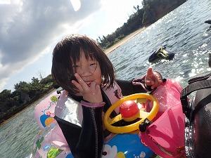 沖縄シュノーケリング3歳