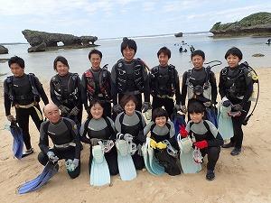 沖縄社員旅行でダイビング