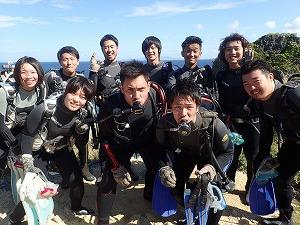 沖縄社員旅行青の洞窟ダイビング