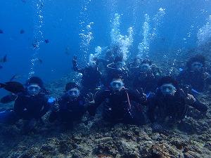 沖縄ダイビング集合写真