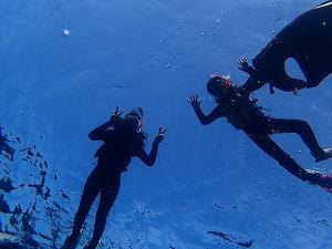 青の洞窟シュノーケリング水中から写真