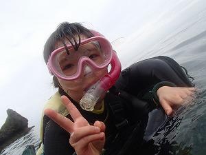 沖縄7歳シュノーケリング