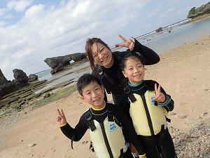 7歳の子供と一緒にシュノーケリング 沖縄の綺麗な海を満喫