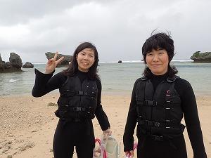 親子でシュノーケリング体験沖縄の綺麗な海を体験