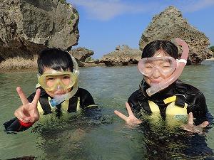 沖縄シュノーケリングで思いで作り
