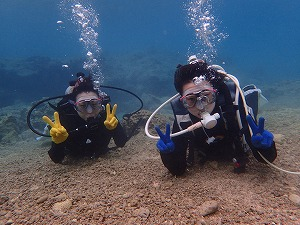 沖縄親子でダイビング