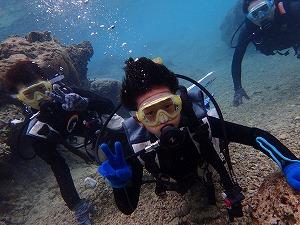 沖縄9歳の子供とダイビング