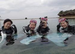 沖縄卒業旅行でダイビング