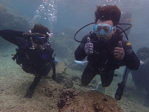 体験ダイビング水中散歩