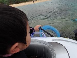 沖縄3歳子供とシュノーケリング