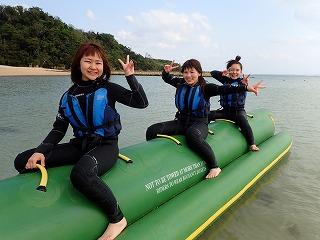沖縄ダイビングショップシーフリー バナナボート