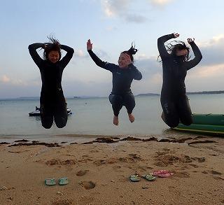 ダイビングショップシーフリー海開きでマリンスポーツ