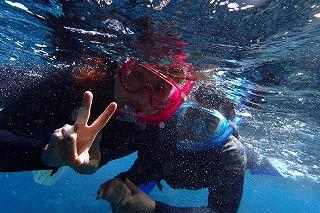 シュノーケリング 水中写真も無料