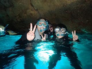 親子で青の洞窟シュノーケリング