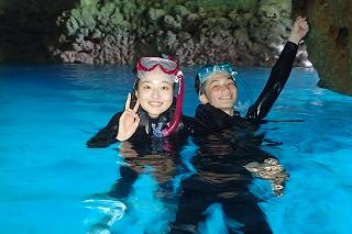 青の洞窟シュノーケリング画像