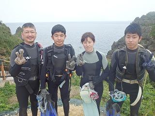 家族で青の洞窟ダイビング