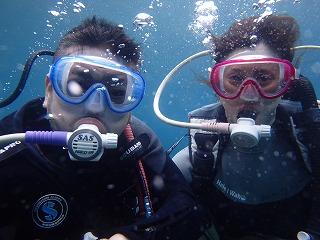 夫婦で体験ダイビング