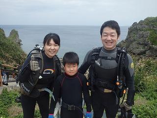 沖縄8歳の子供とダイビング