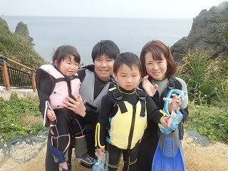 沖縄シュノーケリング2歳の子供と一緒に