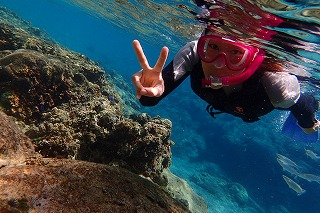 沖縄シュノーケリング水中写真