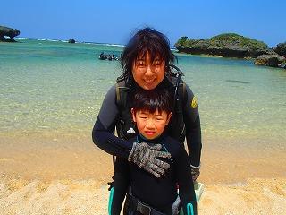 沖縄ダイビング9歳
