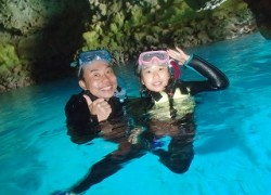 青の洞窟シュノーケリングとクマノミダイビング