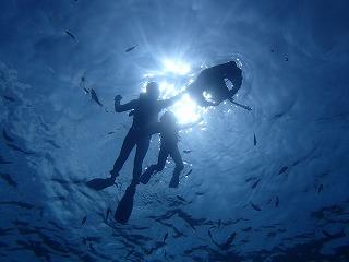 青の洞窟シュノーケリング水中写真