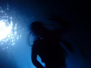 青の洞窟 シルエット