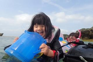 沖縄2歳ぷかぷかシュノーケリング