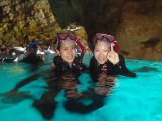 青の洞窟シュノーケリング写真