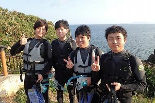 沖縄旅行でシュノーケリング