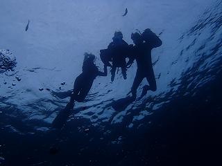 シュノーケリングで水中写真