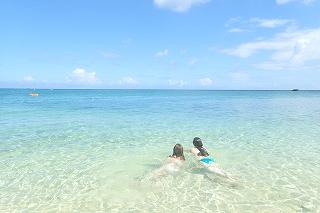 マーメイド体験で海遊び