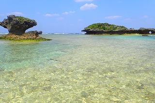 沖縄シュノーケリング 穏やかな海です