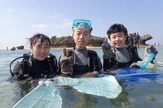 体験ダイビング 楽しかったですね♪
