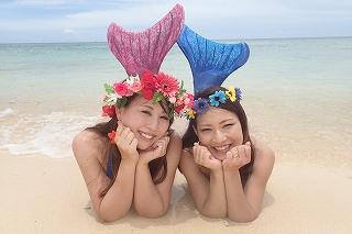 マーメイド体験 沖縄でかわいい人魚に