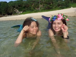 沖縄マーメイド体験 水中撮影