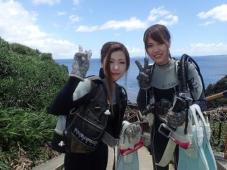 青の洞窟ダイビング 記念写真 行って来ます☆