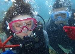 沖縄ダイビング 水中で